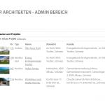 Keller Hubacher Architekten - Backend zur Verwaltung der Projekte